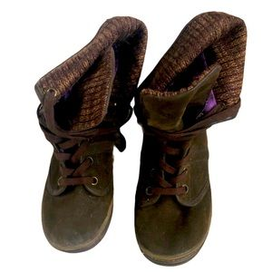 Blowfish brown lace up booties ankle boots 8.5